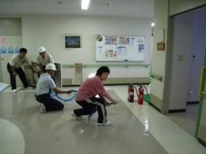 消防避難訓練を行いましたの画像